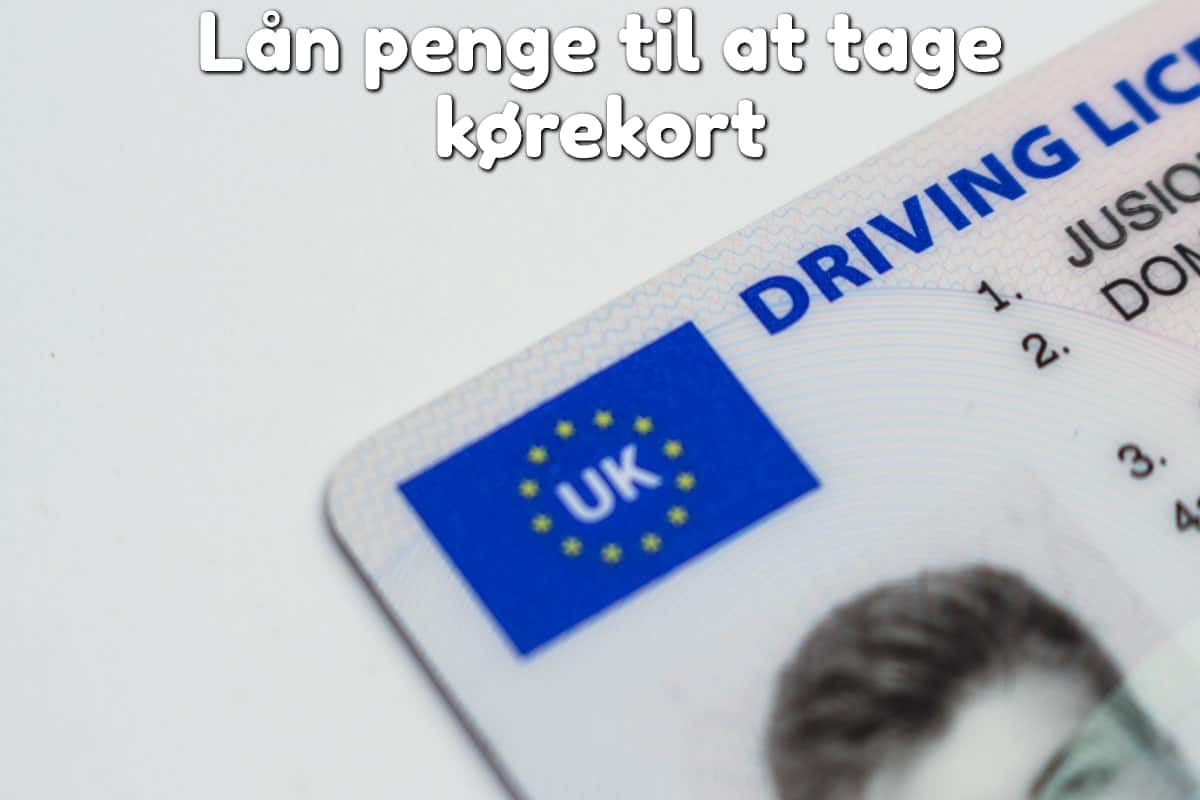 Lån penge til at tage kørekort